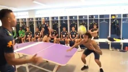 Brasile, calcio tennis show tra Neymar e compagni