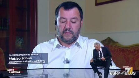 Salvini apprende in diretta su La7 dello sbarco della Sea Watch