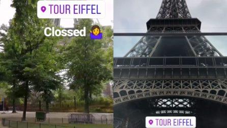 Torre Eiffel chiusa ed evacuata: un uomo ha provato a scalarla