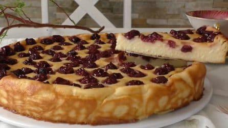 Torta senza farina alle ciliegie: cremosa, soffice e semplice da preparare