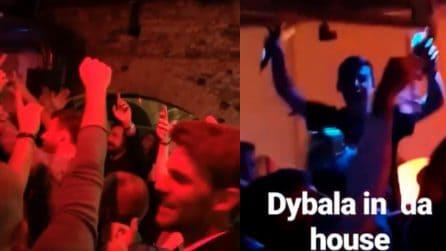 Juventus: Pirlo, Dybala e Barzagli scatenatissimi in discoteca