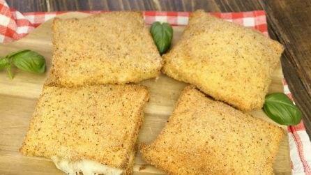 Mozzarella in carrozza in forno: la ricetta facile e sfiziosa pronta in pochi minuti!