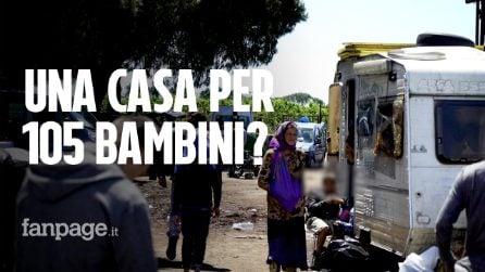 """Sgombero Rom di Giugliano: """"Oltre 105 bambini senza acqua, scuola ed elettricità"""""""