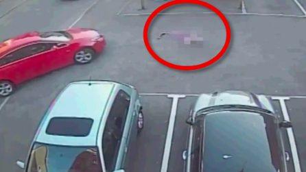 Bambina di 6 anni a terra sull'asfalto, un uomo la investe in pieno: immagini choc