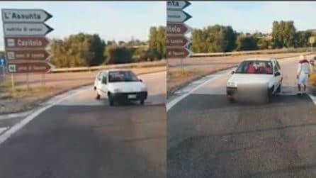 Monopoli, anziano contromano allo svincolo: aiutato da due camionisti