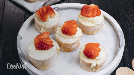 Cream and strawberry swivels: a refreshing dessert that is sure to impress and satisfy your guests!