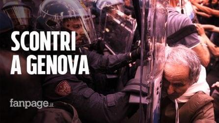 Comizio Casapound: scontri tra manifestanti antifasciti e Polizia, ferito un giornalista