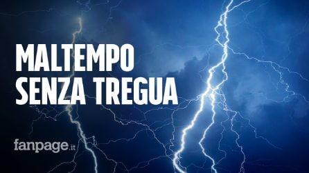 Meteo weekend con violenti temporali e grandinate: il maltempo non dà tregua all'Italia
