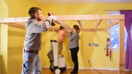 Mamma e papà trasformano la cameretta e regalano alle bambine la stanza dei loro sogni