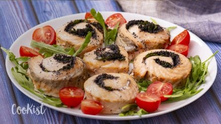 Baked salmon roll: easy and quick, ready in 15 minutes!