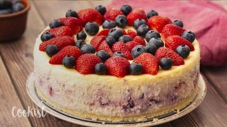 Berry cheesecake: creamy, fresh and easy to make!