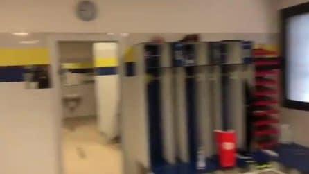 Il saluto emozionante di Stefano Sorrentino dallo spogliatoio del Chievo Verona