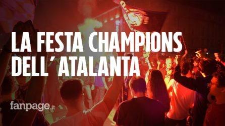 """Atalanta in Champions, la festa dei tifosi nel centro di Bergamo: """"È incredibile"""""""