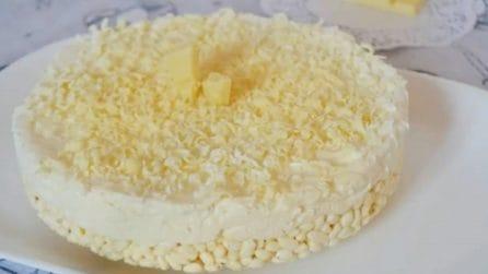 Torta fredda al cioccolato bianco: semplice e veloce da preparare