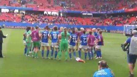 Mondiali di calcio femminili, le Azzurre vincono e ballano la Macarena