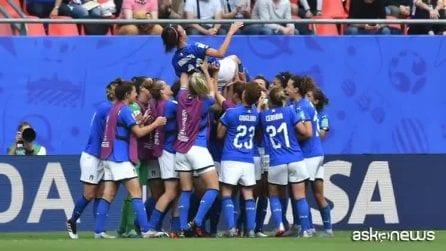 Mondiali calcio femminili: 2-1 all'Australia, azzurre in festa