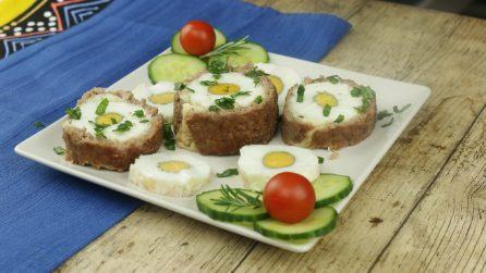 Polpettone ripieno di uova: prepararlo in questo modo è davvero geniale!