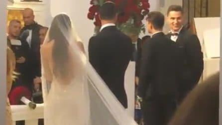 Le nozze di Clarissa Marchese e Federico Gregucci: le immagini in chiesa