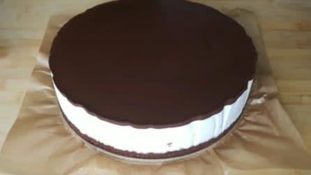 Torta fredda cioccolato e ricotta: lo strato cremoso è una vera delizia