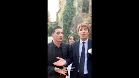 """Lorella Boccia si sposa, il simpatico """"daytime di Amici"""" con Marcello Sacchetta e Paolo Ciavarro"""