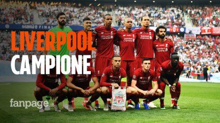 Liverpool campione d'Europa: Tottenham ko e i Reds alzano al cielo la loro sesta Champions League