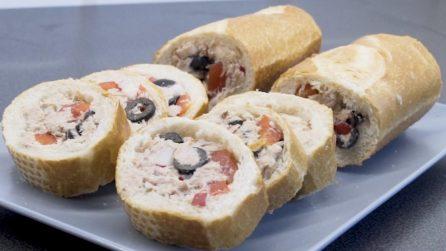 Baguette ripiena di tonno: l'idea geniale per un aperitivo sorprendente!