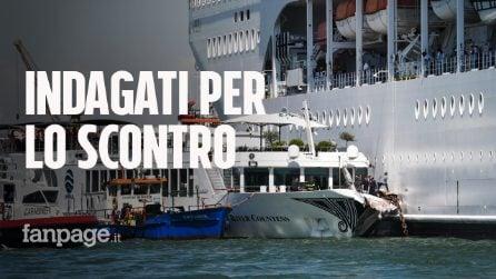 Venezia, scontro tra nave da crociera e battello: indagato pilota e comandante MSC