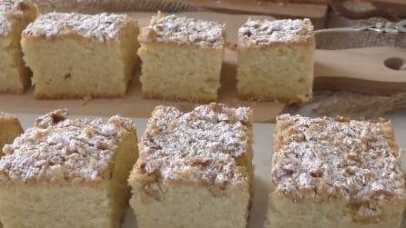 Quadrotti alle noci: con questa ricetta farete felici tutti