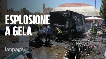 Gela, camion di polli allo spiedo esplode durante il mercato: numerosi feriti, una ragazza è grave