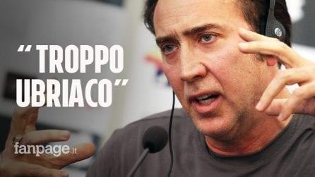 """Nicolas Cage chiede di annullare il matrimonio dopo 4 giorni: """"Troppo ubriaco"""""""