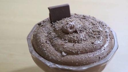 Mousse al cioccolato: per farla vi basteranno solo 3 ingredienti