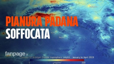 Inquinamento in Pianura Padana: il nord soffocato dallo smog. L'immagine choc dallo spazio