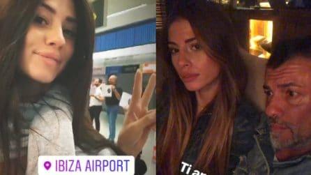 Angela Nasti va a Ibiza con la famiglia e senza il fidanzato Alessio Campoli