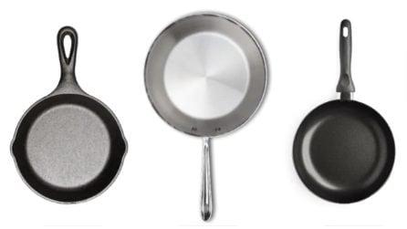 Qual è la padella giusta da usare: ghisa, acciaio o antiaderente?