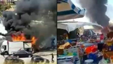 Esplosione Gela, le immagini sconvolgenti all'interno del mercato