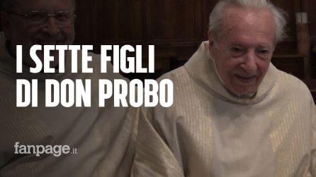 Don Probo compie 100 anni e festeggia con i suoi sette figli, quattro di loro sono sacerdoti