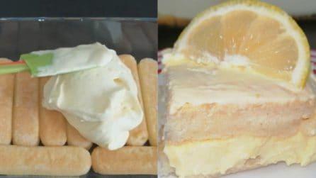 Tiramisù al limone: la versione fresca e squisita
