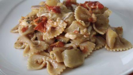 Farfalle integrali con melanzane: un primo piatto leggero e gustoso