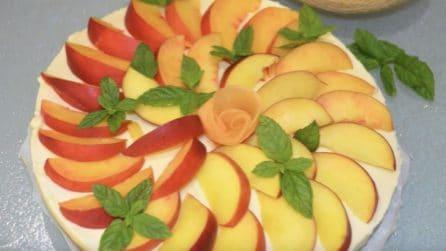 Cheesecake pesca e melone: una ricetta fresca piena di gusto