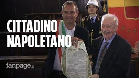 """Gianni Minà cittadino onorario di Napoli: """"E' la fabbrica di quello che ho sempre amato"""""""