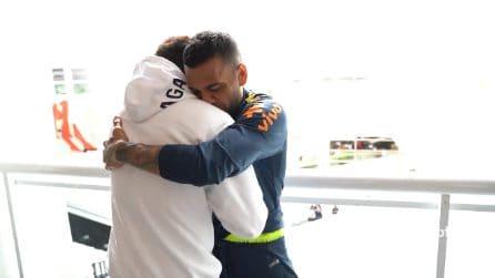 Arriva Neymar nel ritiro: l'accoglienza commovente riservata al brasiliano