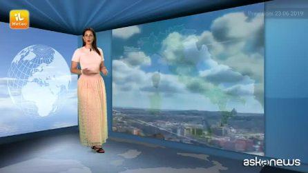 Previsioni meteo per domenica 23 giugno 2019