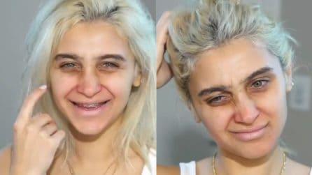 È stanca di non vedersi bella e si rivolge a un truccatore: la trasformazione è stupenda