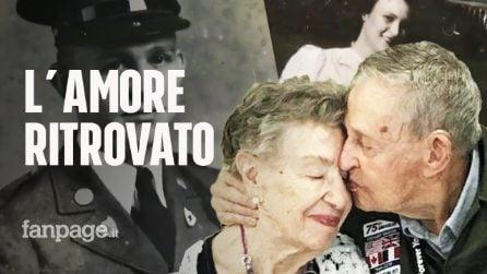 """Veterano 98enne ritrova e bacia il suo primo amore: """"Ti ho sempre amato Jeanine"""""""