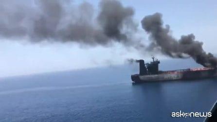 """Attacco a petroliere Golfo Oman, per Iran è """"incidente sospetto"""""""