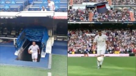 Bernabeu in delirio: la presentazione ufficiale di Eden Hazard al Real