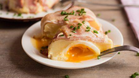 Tortino di frittata con cuore di uovo: perfetto per una cena da leccarsi i baffi!