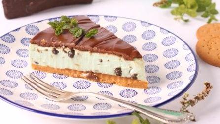 Cheesecake menta e cioccolato: la torta fredda e senza cottura