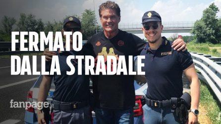 David Hasselhoff fermato dalla polizia: gli agenti volevano una foto con l'attore di Supercar