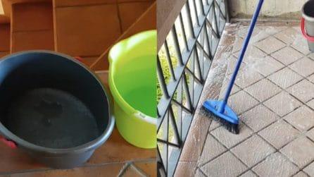 Come pulire il pavimento di balconi e terrazzi: veloce ed efficace